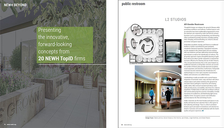 L2's winning Design featured in NEWH's BEYOND-Special Edition Magazine