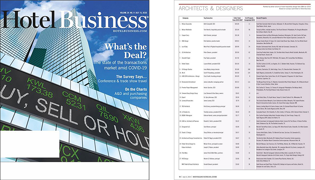 L2 Studios – #18 in Hotel Business Top Arch/Design List